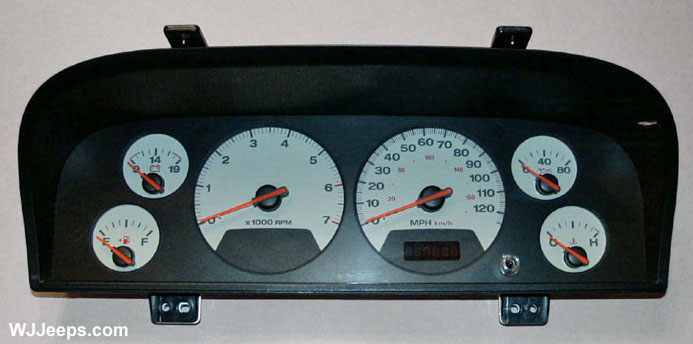 Gauges Wh on 1995 Jeep Cherokee Limited